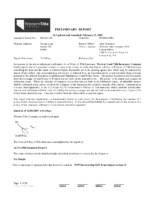 Preliminary Title Report